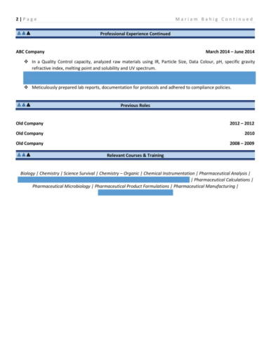 Intermediate - Lab Technician Resume Sample-2